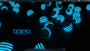 Neon Conky and Wallpaper pack. by speedracker