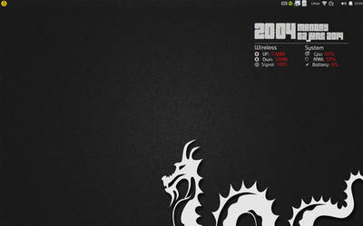 Time system info conky . Dragon desktop.