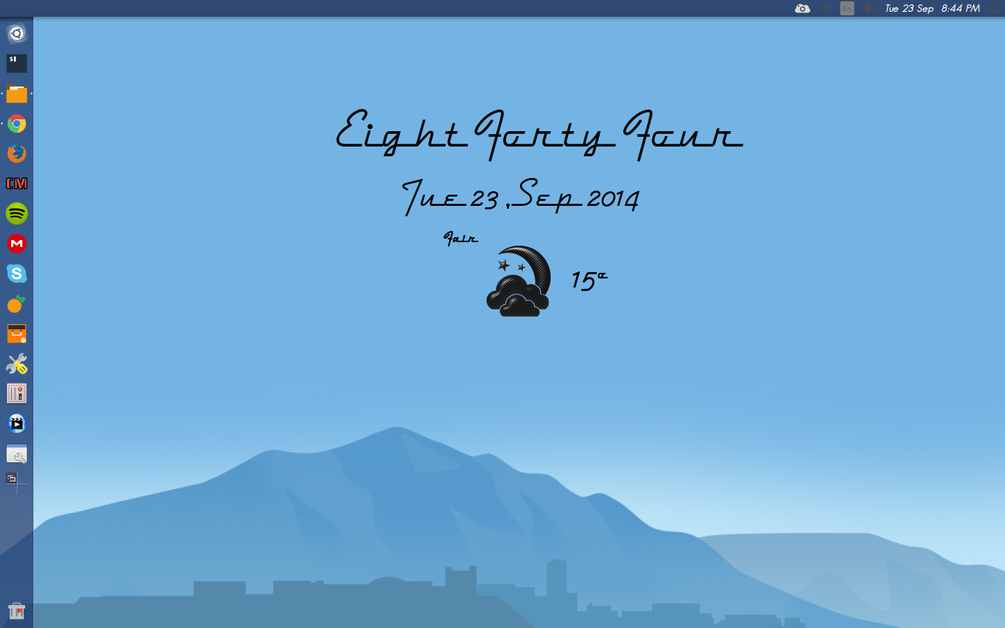 50s Conky Weather version. Made for Conky Manager