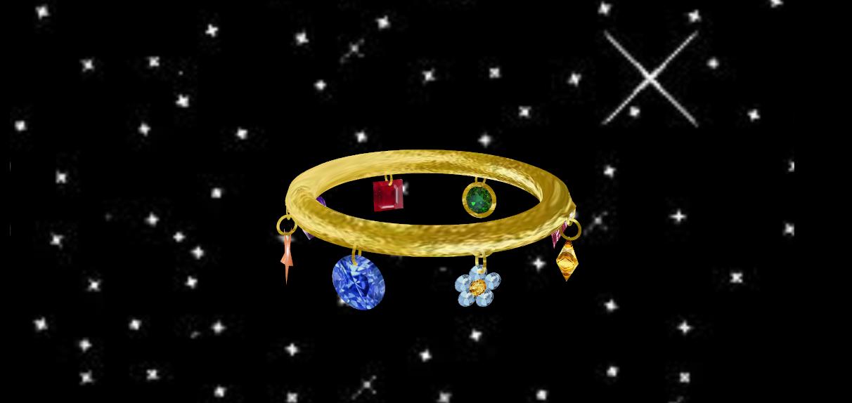 realistic jewel charm bracelet by Tehrainbowllama