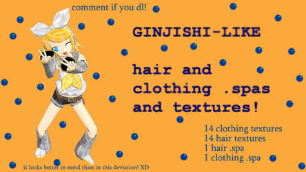 ginshi style hair, textures, and .spa files!