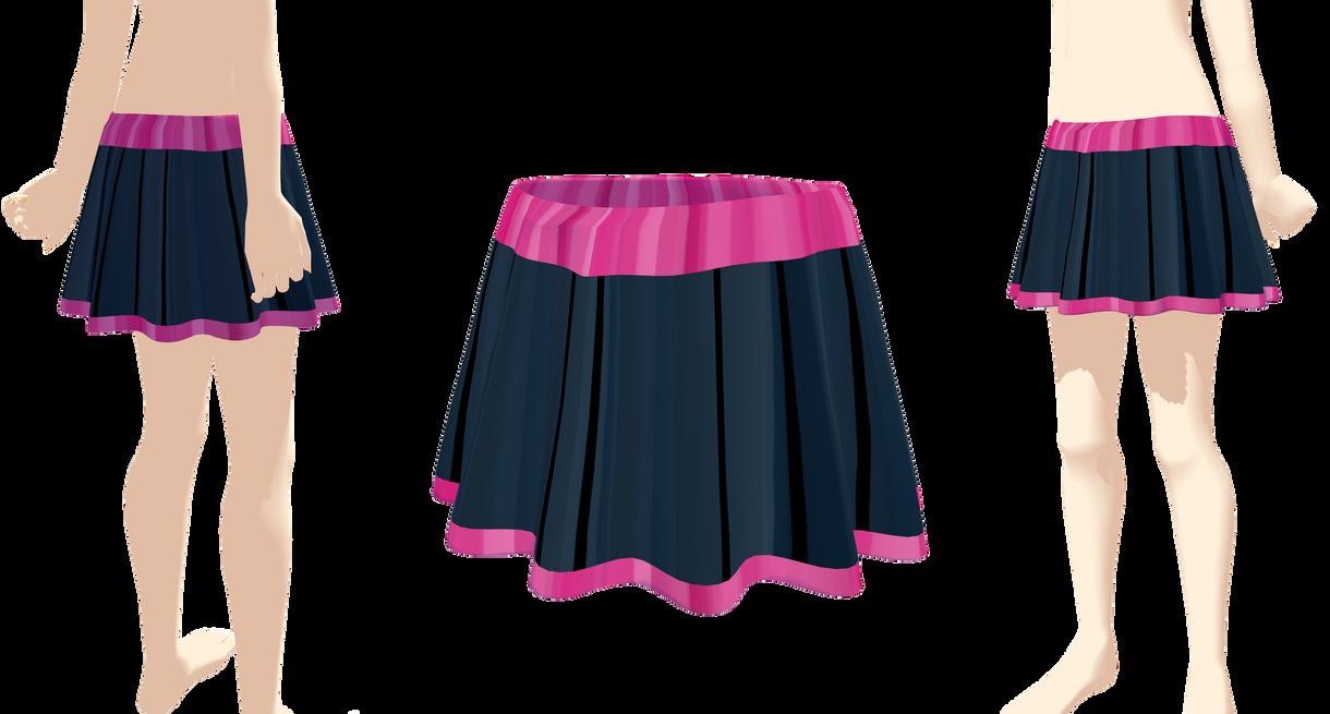 mmd wavy skirt by Tehrainbowllama