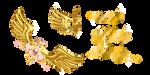 mmd golden wings by Tehrainbowllama