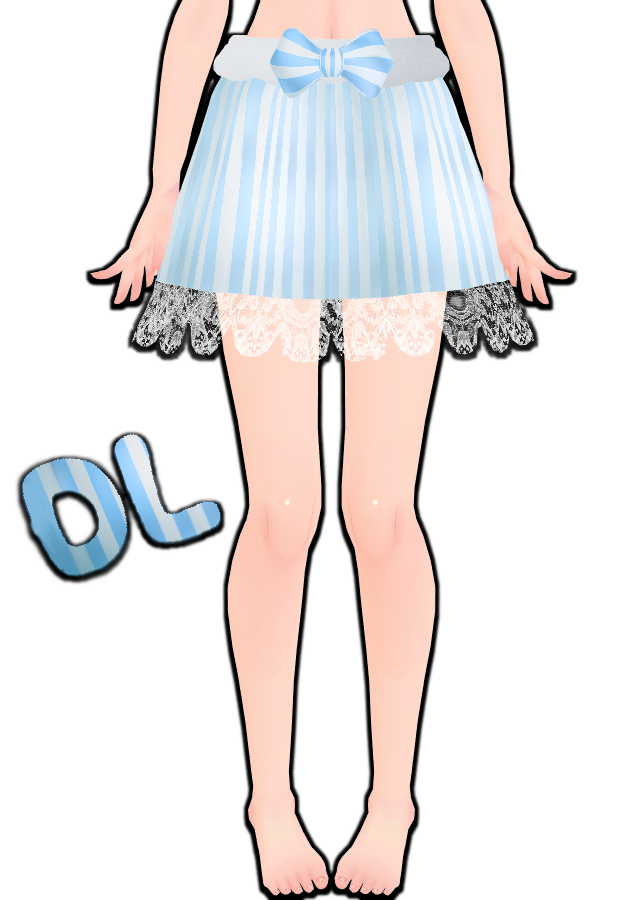 Mmd Blue Striped Skirt By Tehrainbowllama On Deviantart