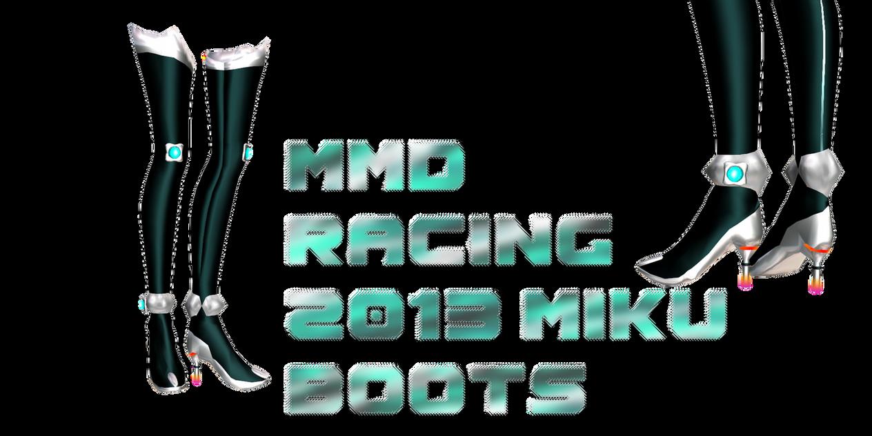 mmd 2013 racing miku boots by Tehrainbowllama