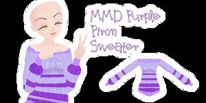 Mmd Purple Piron Sweater