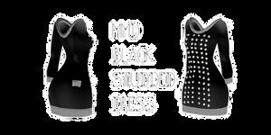 Mmd Black Studded Mini Dress