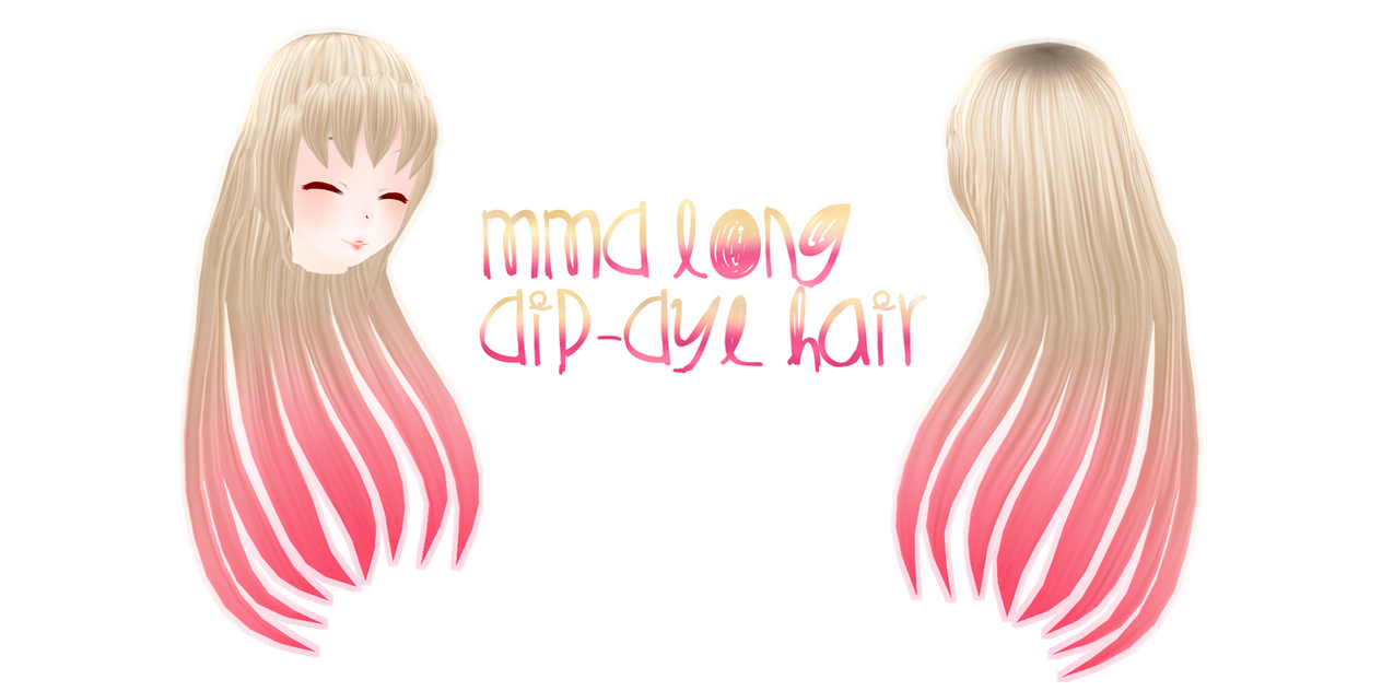 MMD  Long Dip-Dye Hair by Tehrainbowllama