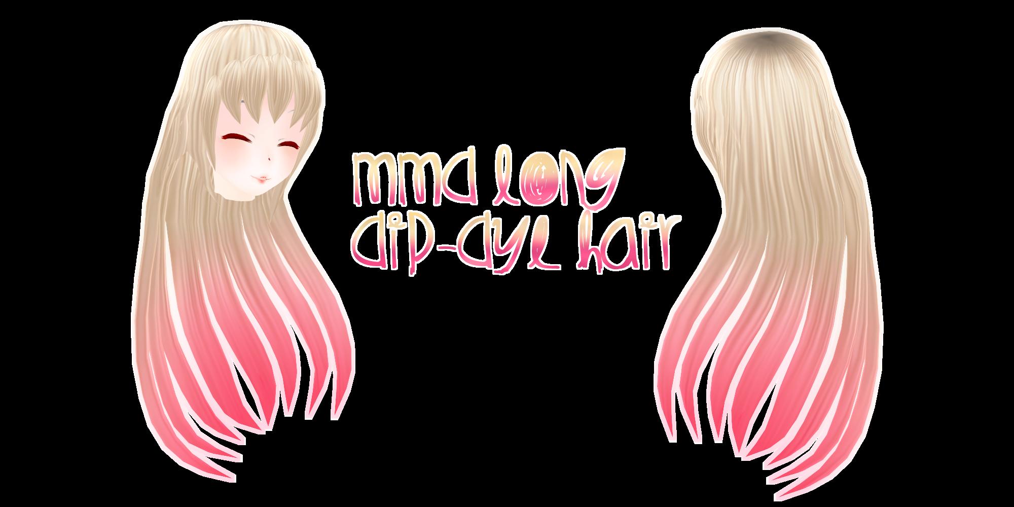 MMD  Long Dip-Dye Hair by Tehrainbowllama