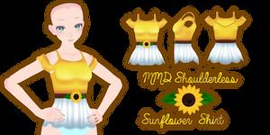 MMD Shoulderless Sunflower Shirt