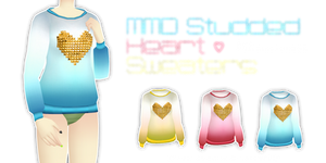 MMD Studded Heart Sweaters (Fits Lat)