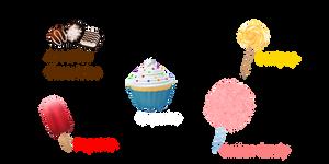 MMD Random Pack 36 THEMED (Sweets) by Tehrainbowllama