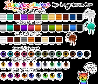 Tehrainbowllama's Hair and Eye Texture Pack