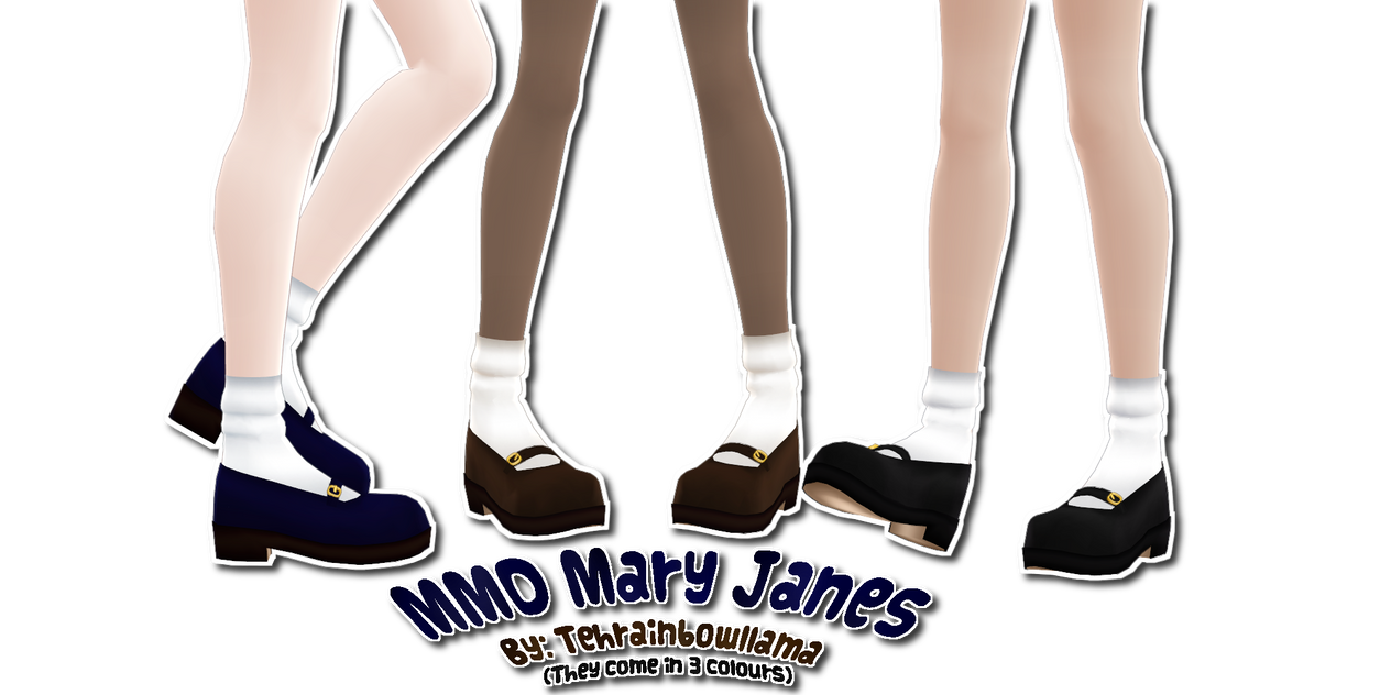 MMD Mary Janes by Tehrainbowllama