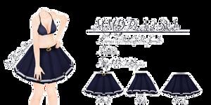MMD Pleated Skirt by Tehrainbowllama