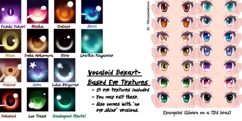 Vocaloid Boxart-Based Eye Textures