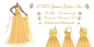 MMD Grand Golden Dress