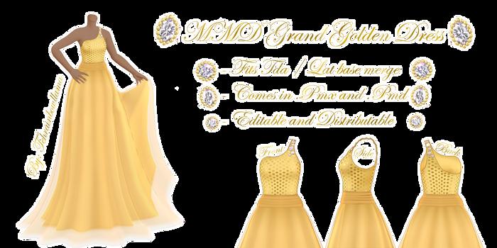 MMD Grand Golden Dress
