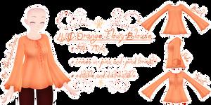 MMD Orange Flowy Blouse
