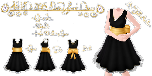 MMD 2015 New Year's Dress by Tehrainbowllama