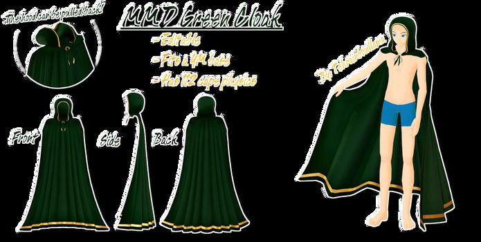 MMD Green Cloak