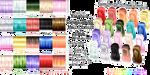 MMD Vocaloid Boxart-Based Hair Texture Pack by Tehrainbowllama