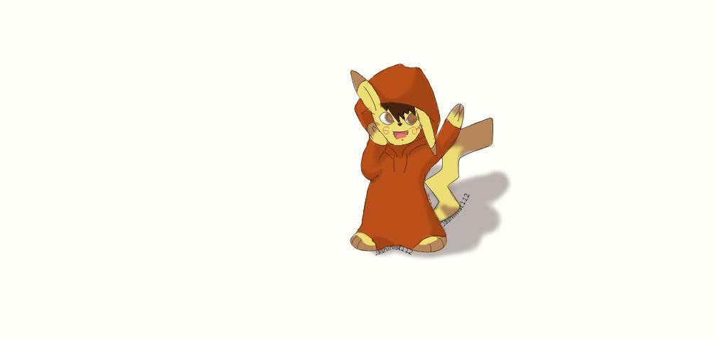 Pikachu Chibi-Anthro by jashinist112