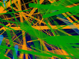 Growing Grass Actionscript Art by Rahzizzle