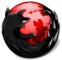 Cool Firefox Icon Firefox black and red by