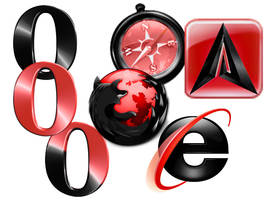 Browsers black and red by zach-ska
