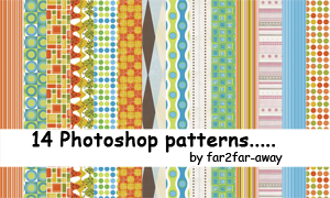 Photoshop patterns 01 by far2far