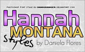 Hannah Montana styles by danigranger