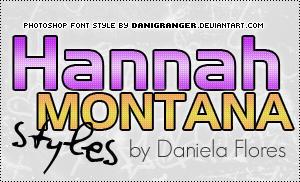 Hannah Montana styles
