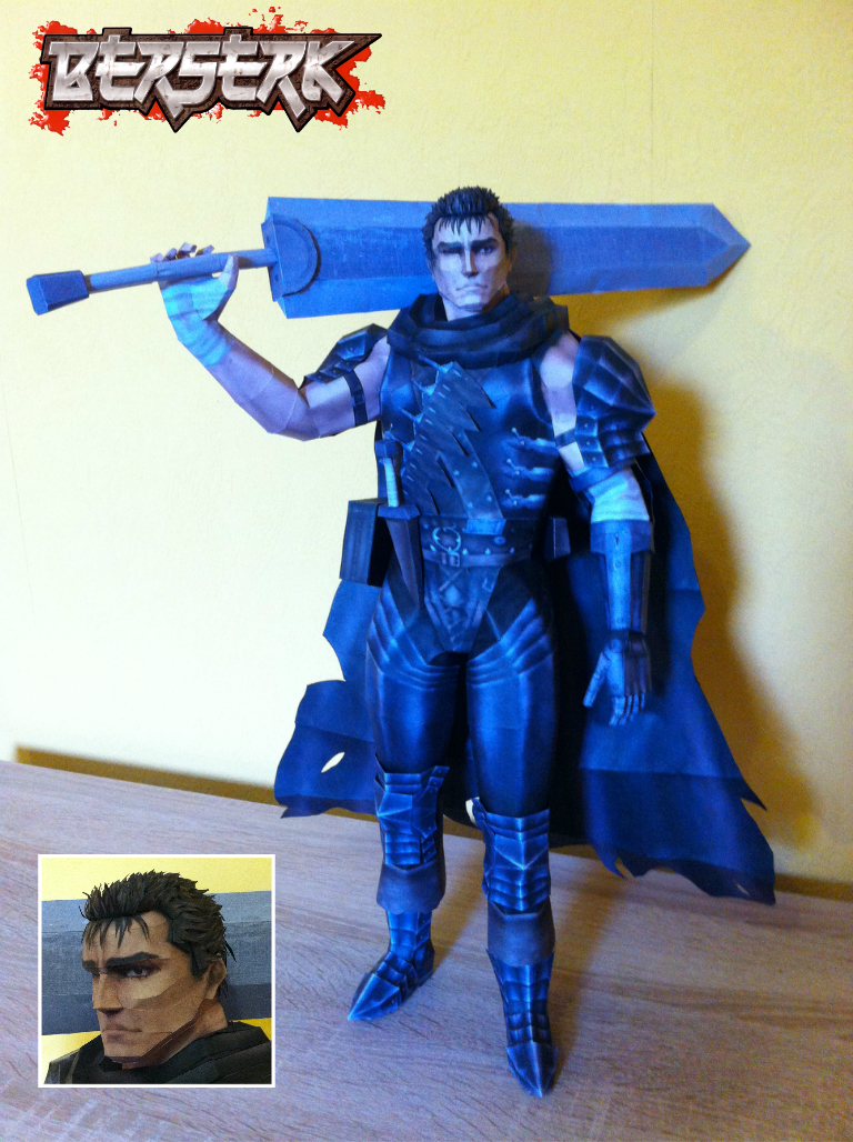 Berserk - Guts Papercraft by stange1337