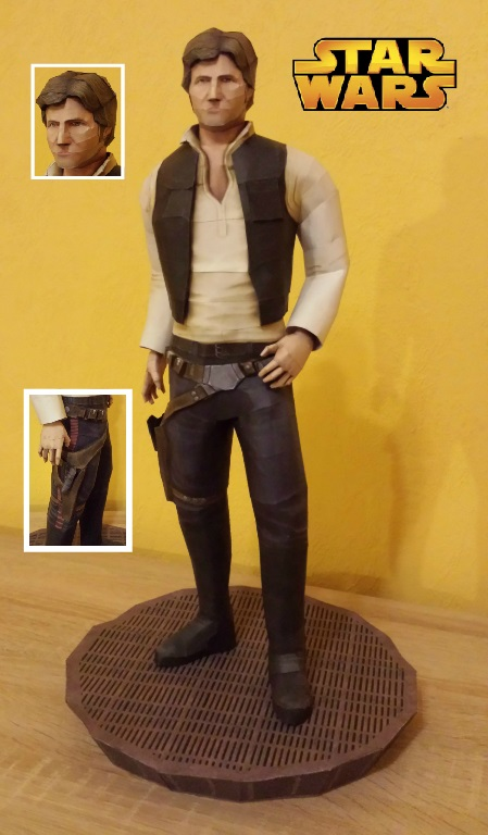 Star Wars - Han Solo Papercraft by stange1337
