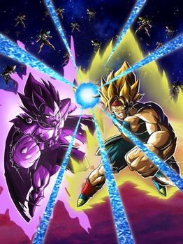 LR Super Saiyan Bardock and King Vegeta
