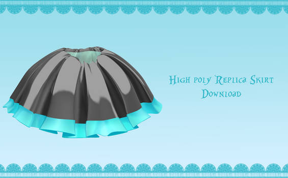 High-Poly Replica skirt [ DOWNLOAD ] by PeachMilk3D