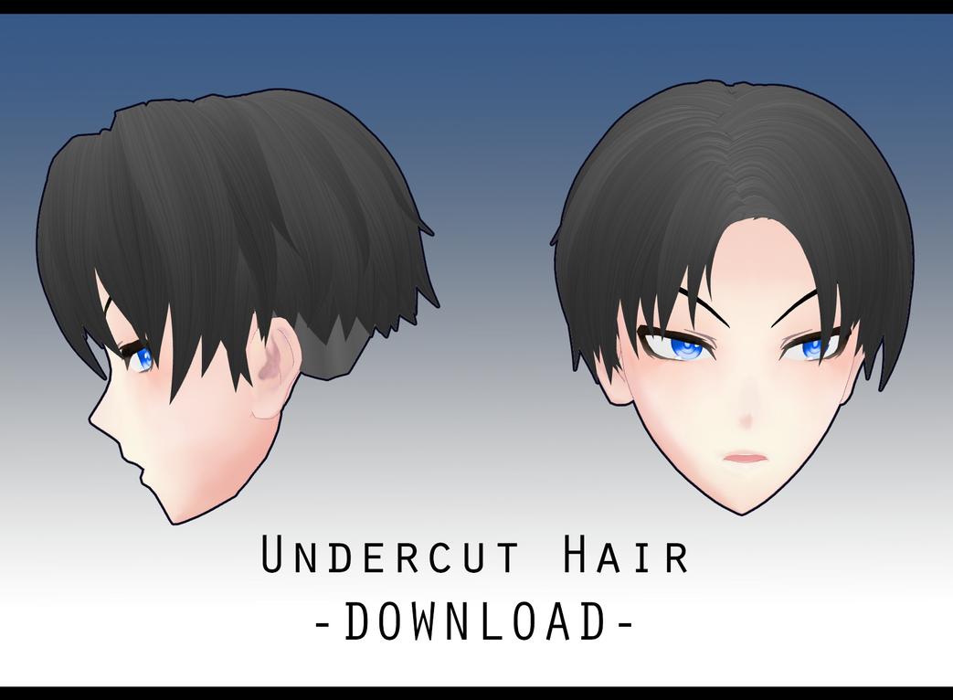 Undercut Hair [ DOWNLOAD ] by PeachMilk3D