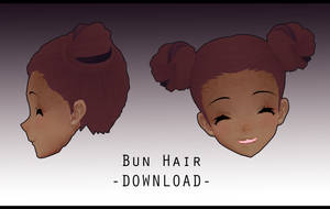 Bun Hair [ DOWNLOAD ] by PeachMilk3D