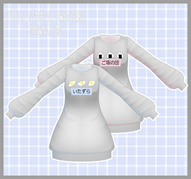 Cute Female Sweaters [DOWNLOAD]  Thanks for 600! by PeachMilk3D