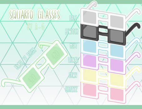 Squared Glasses [ HAPPY 420 DL  ]
