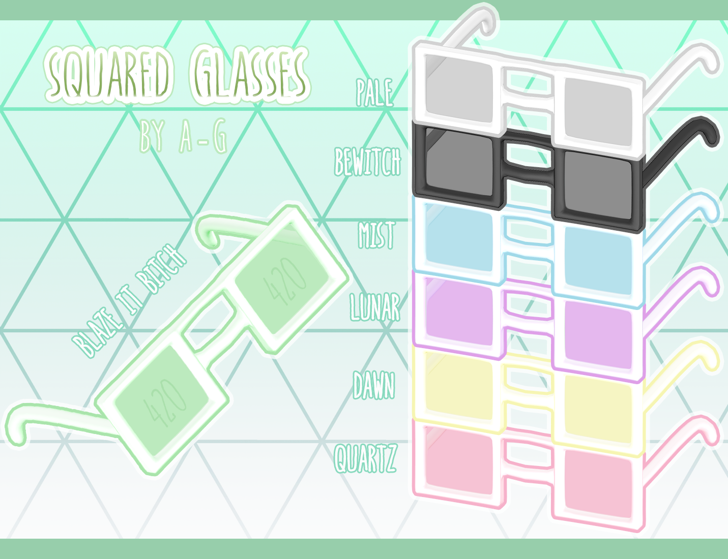 Squared Glasses [ HAPPY 420 DL  ] by avant----garde