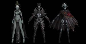 Dark elves pack - Lineage 2 (original bones)