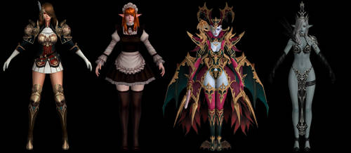 Lineage 2: Revolution Characters Pack by papkapapka