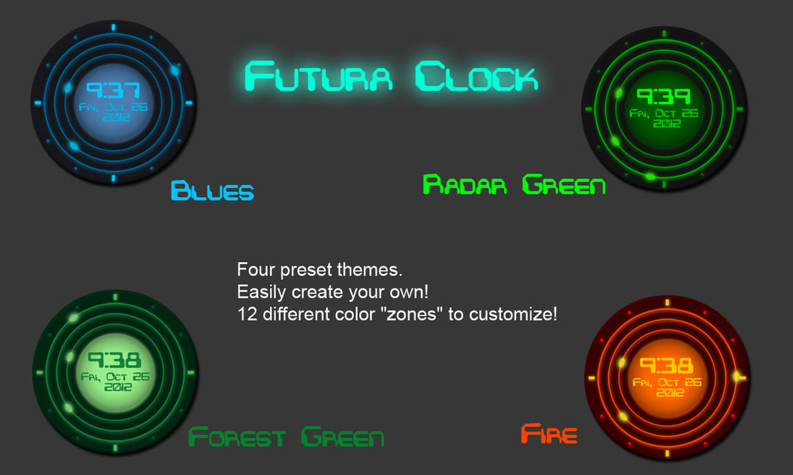 Futura Clock by CybOrSpasm