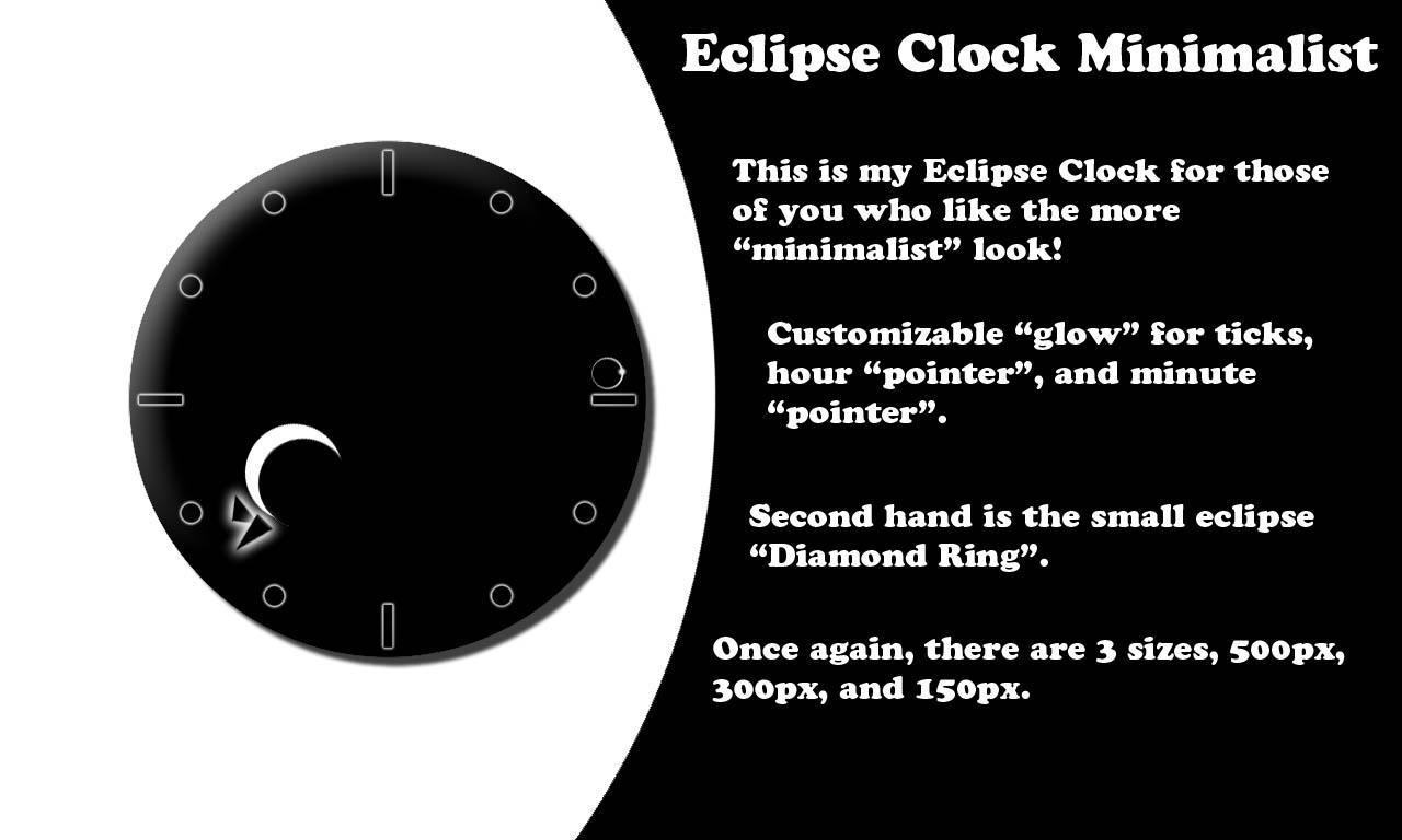 Eclipse Clock Minimal by CybOrSpasm