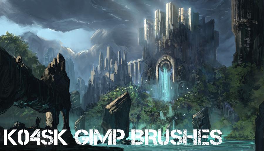 K04sk Gimp Brushes by k04sk