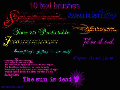 A Text brush set