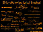 LoveHateHero Brushes