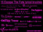 Escape The Fate Brushes